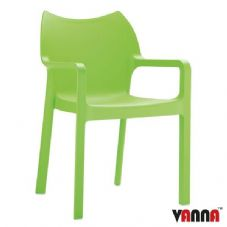 Vanna Peak Arm Chair - Tropical Green